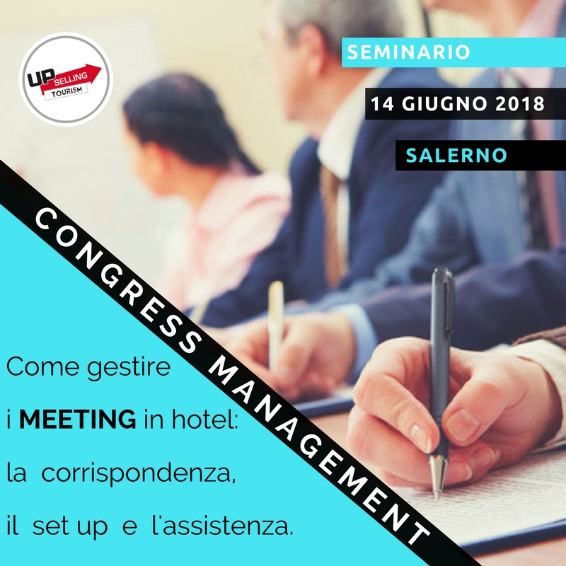 Corso Congress Management - Upselling Tourism
